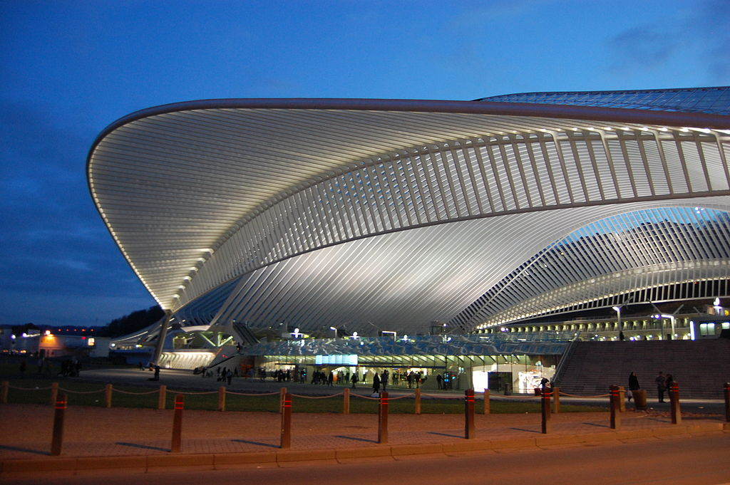The credits of the film suggests that most of the structures on Xandar draws inspiration from the works of renowned Valencia based Spanish architect Santiago Calatrava -Liege Station,Belgium